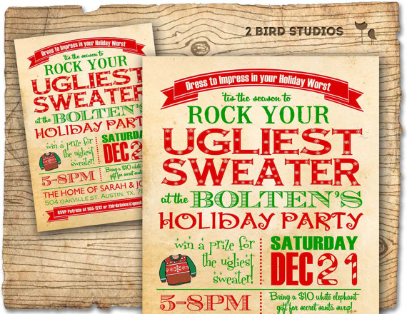 christmas invitation wording ideas